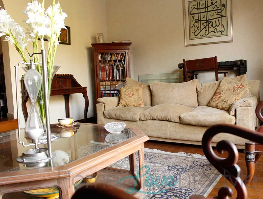 Drawing Room in Karachi Home of Sanam Saeed