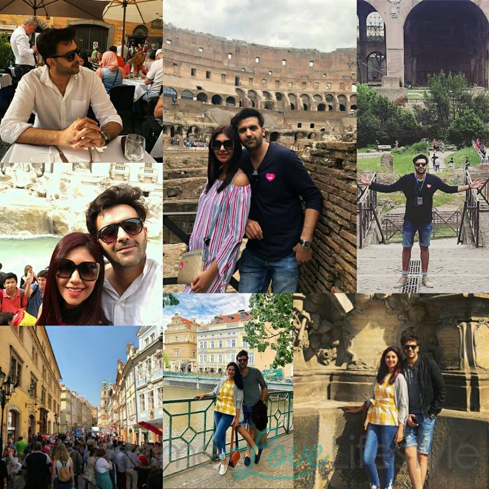 Collage captures Sunita & Hasan Ahmed's romantic vacation