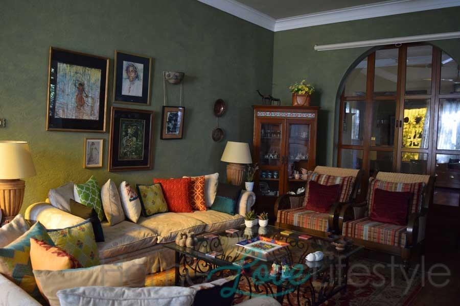 Marina Khan's cosy living room