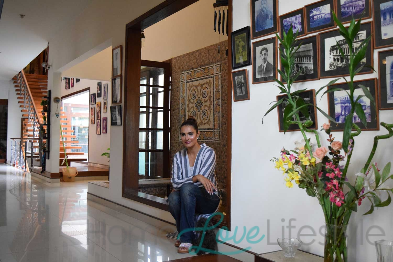 Nadia Hussain at home
