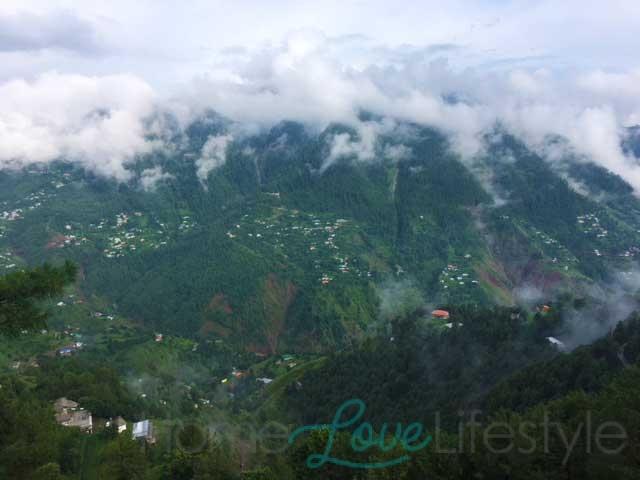 Misty mountains of Nathiagali.