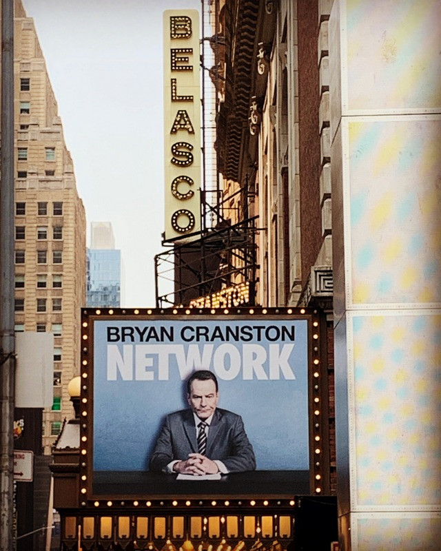 Bryan Cranston poster outside NYC theatre